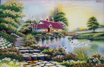 Tranh Đá Quý Ngôi Nhà Hạnh Phúc ĐT03-05