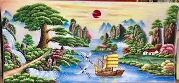 Tranh Đá Quý Thuận Buồm Xuôi Gió ĐT04-05