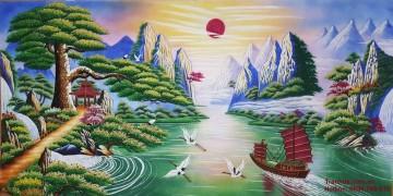 Tranh Đá Quý Thuận Buồm Xuôi Gió ĐT04-02