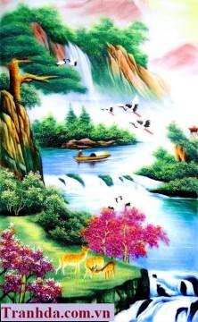 Tranh Đá Quý  Thủy Mạc Thuận Phát