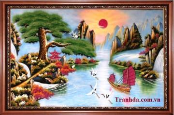 Bán tranh đá quý Thuận Buồm Xuôi Gió