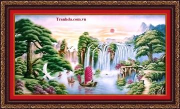 Tranh đá quý Thuận buồm xuôi gió