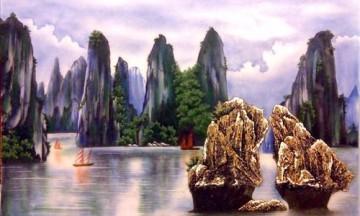 Tranh đá quý phong cảnh Việt Nam đặc sắc
