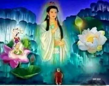 Tranh đá quý Phật Bà Quan Âm