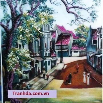 Tranh đá Quý Phong Cảnh Phố Cổ Thủ Đô