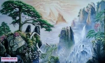 Tranh Đá Quý Cao Cấp 3D Phong Cảnh Hùng Vỹ