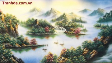 Tranh Đá Quý Cao Cấp 3D Thiên Nhiên Mùa Xuân