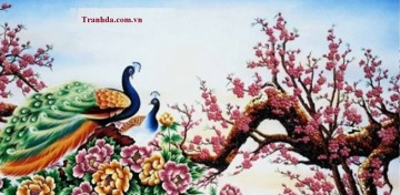 Tranh Đá Quý Cao Cấp 3D Hoa Đào Xuân