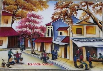 Tranh Đá Quý Phố Cổ Tại Hà Nội