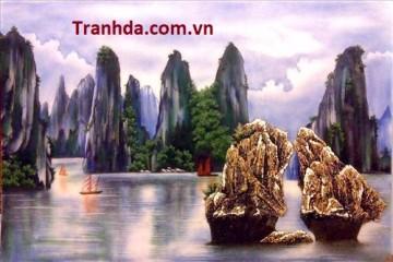 Tranh đá Quý  Vịnh Hạ Long Việt
