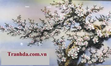 Tranh Đá Quý Cao Cấp 3D Đào Xuân