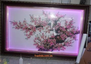 Bán Tranh đá quý cao cấp hoa đào