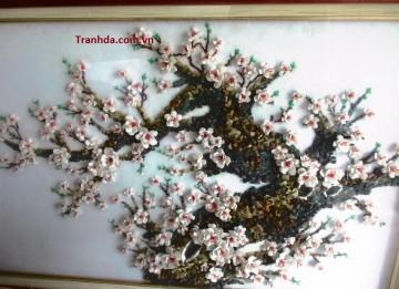 Bán tranh đá quý hoa đào Siêu đẹp